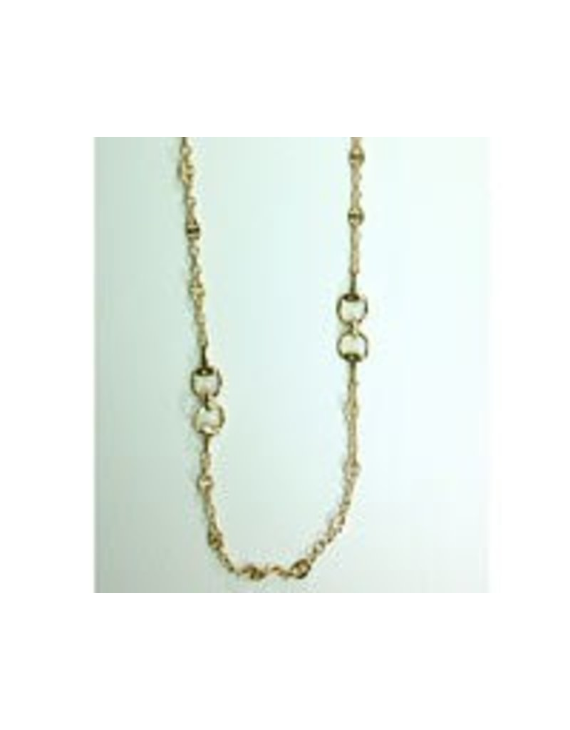 """Fossick Imports 36"""" Stirrup Necklace - Gold"""