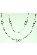 """Fossick Imports 36"""" Stirrup Necklace - Silver"""