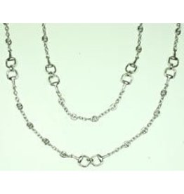 "Fossick Imports 36"" Stirrup Necklace - Silver"