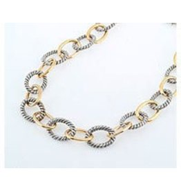 Fossick Imports LARGE TWO TONE LINK NECKLACE