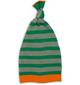 Pavilion Aqua & Gray Stripe - 0-12 Mnth Baby Hat