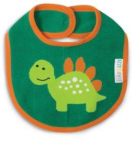 Pavilion Aqua & Orange Dino - Baby Bib