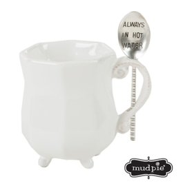 Mud Pie TEA MUG SET HOT WATER