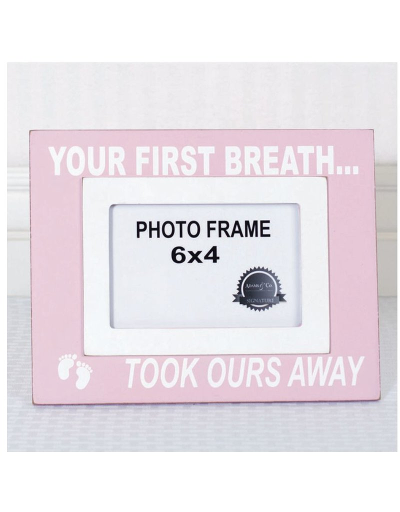 ADAMS & CO. YOUR FIRST BREATH Frame (pink)