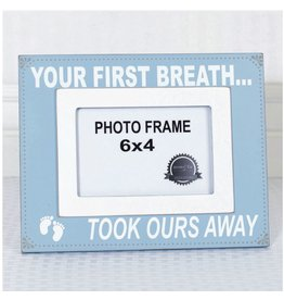 ADAMS & CO. YOUR FIRST BREATH Frame (blue)
