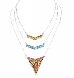 jilzarah Trinity Necklace (silver) South Beach