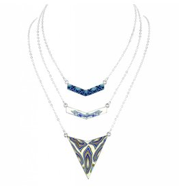 jilzarah Trinity Necklace (silver) Marina