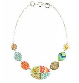 jilzarah Cobblestone Necklace (silver) South Beach