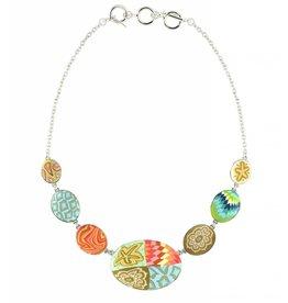 jilzarah Cobblestone Necklace (silver) South Beach