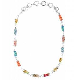 jilzarah South Beach Tube Necklace (silver)