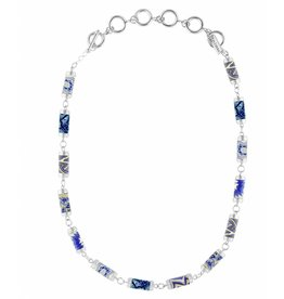 jilzarah Marina Tube Necklace (silver)