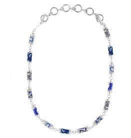 jilzarah Marina Tube Necklace (silver)