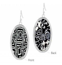 Black White Earrings (silver)