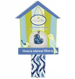 jilzarah Mother's Day Blue Bird Necklace
