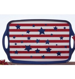 Certified International Corp Stars & Stripes Tray w/ handles