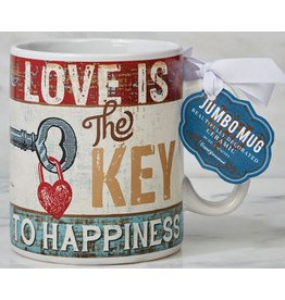 Certified International Corp Love Is The Key To Happiness jumbo Mug