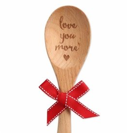 BROWNLOW GIFT Love you more wooden spoon