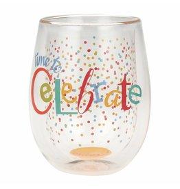 Top Shelf Stemless glass- Celebrate