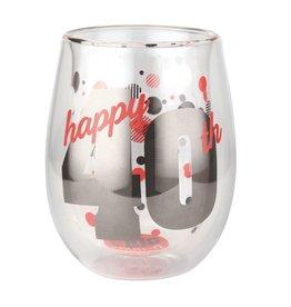 Top Shelf Stemless glass- 40th birthday
