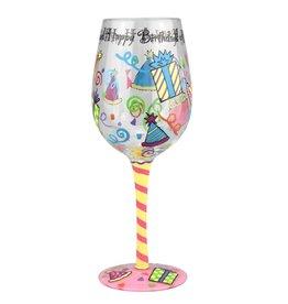Top Shelf Wine Glass - HAPPY BIRTHDAY