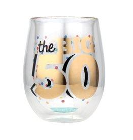 Top Shelf Stemless glass- 50th Birthday