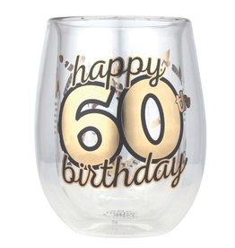 Top Shelf Stemless glass- 60th Birthday