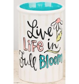 Live life in full blossom vase