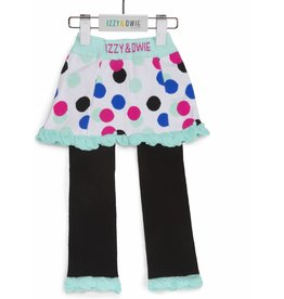 Mint & Black Polka Dot-(12-24 Months) Skirt Leggings