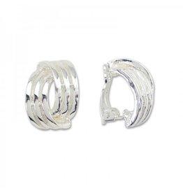 BROWNLOW GIFT Clip earrings Silver Twist
