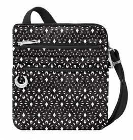 Travelon Anti-Theft Boho Slim Bag geo Shell- black & white