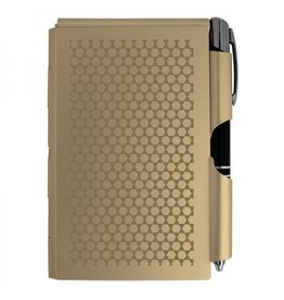Aluminum Note Pad with LED Pen- Gold