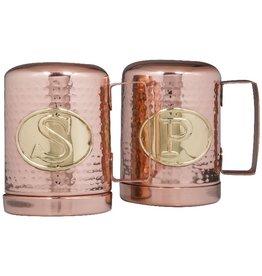 Home Essentials Copper Hammered Jumbo Salt & Pepper Shakers