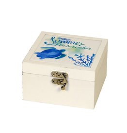 Round Top Collection Turtle Hida Box White