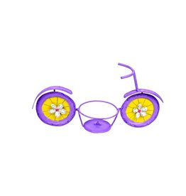 """Round Top Collection Purple Bicycle 6"""" Pot Holder"""