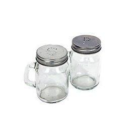 DENNIS EAST INTERNATIONAL INC Glass Jar Salt & Pepper Set