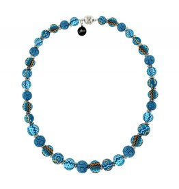 jilzarah Necklace- Magnetic Closure (Long)- Aztec Blue