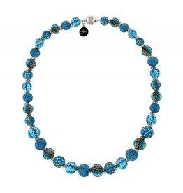 jilzarah Necklace- Magnetic Closure (Long)- Aztec Blue