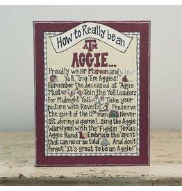 A&M AGGIE Canvas Frame