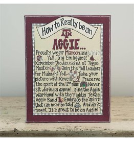 TEXAS A&M HOW TO TABLE TOP CANVAS 8X10