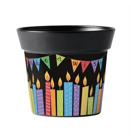 "Birthday Candles 6"" Art Pot"