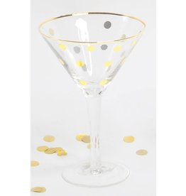 8 Oak Lane Martini Glass with Gold dot