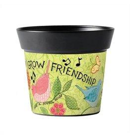 """Grow Friendship 6"""" Art Pot"""