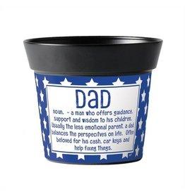 """Dad Defined 6"""" Art Pot"""