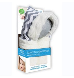 Luxury Hooded Towel - Gray Stripe