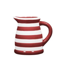 Home Essentials Pitcher - Red/Wht Stripe 22oz.