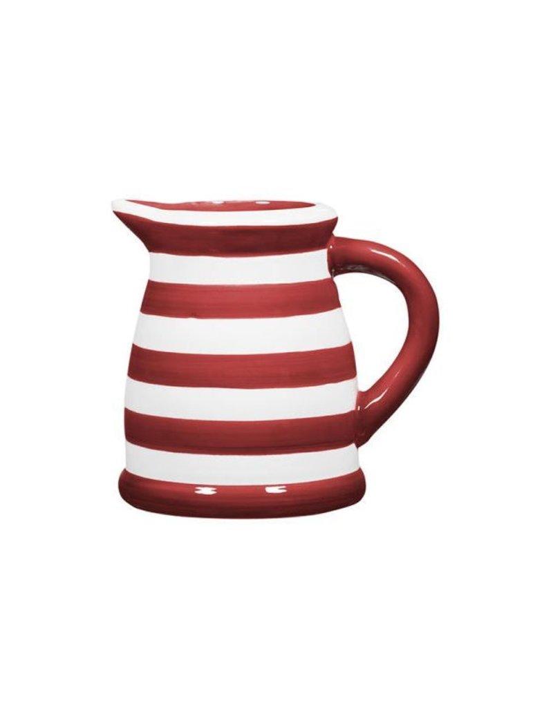 Home Essentials Pitcher - Red/Wht Stripe 22oz.