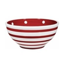 Home Essentials Bowl - Red/Wht Stripe 80 oz.