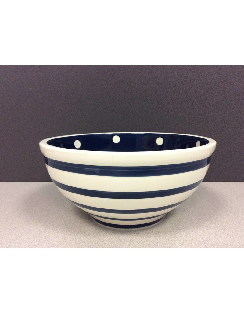 Home Essentials Bowl - Indigo/ Wht Stripe 80 oz