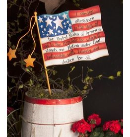 Round Top Collection Pledge Flag Small