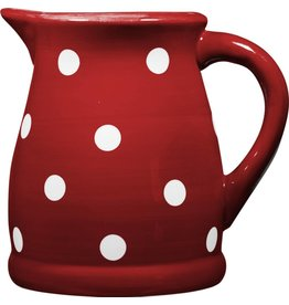 Home Essentials Pitcher - Red / Wht Dots 124 oz.
